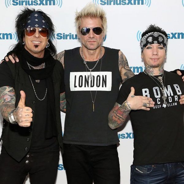 Nikki Sixx Poses With DJ Ashba And James Michael As He Announces Release Of New Music